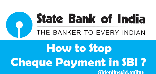 How to Stop Cheque Payment in SBI Online Banking (Revoke