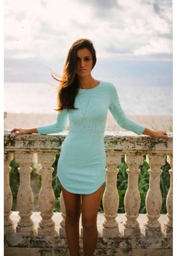 ON SALE - $19.99 - Carley Mint Dress - Use code ERIKAMARIE at checkout for discount! You're going to love our Carley mint bodycon! - E's Closet Boutique Fashion fall winter party cocktail dinner date night girls night out casual shopping wardrobe sleeve sleeved sleeves mint outfit sale boutique Florida online available now style