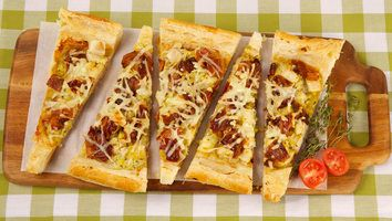 Best Recipes Ever - Bacon, Apple and Leek Tart