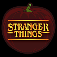 pumpkin template stranger things  Stranger Things 7 - Pumpkin Stencil   Pumpkin carving ...