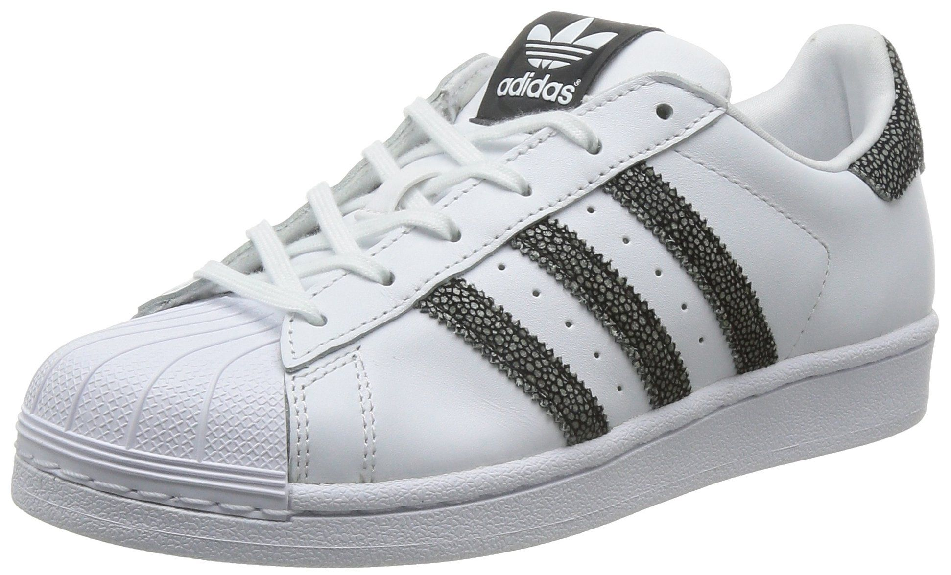 newest 3072c 4c555 adidas Superstar W - Zapatillas de running para mujer, color blanco   negro,  talla 38 2 3