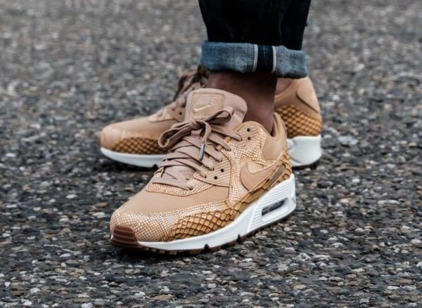Nike Air Max 90 Premium 'Reptile' Elemental Gold | Nike air