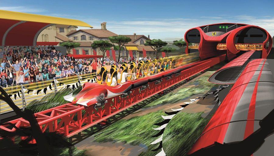 Vertical Accelerator Port Aventura Ferrari Land
