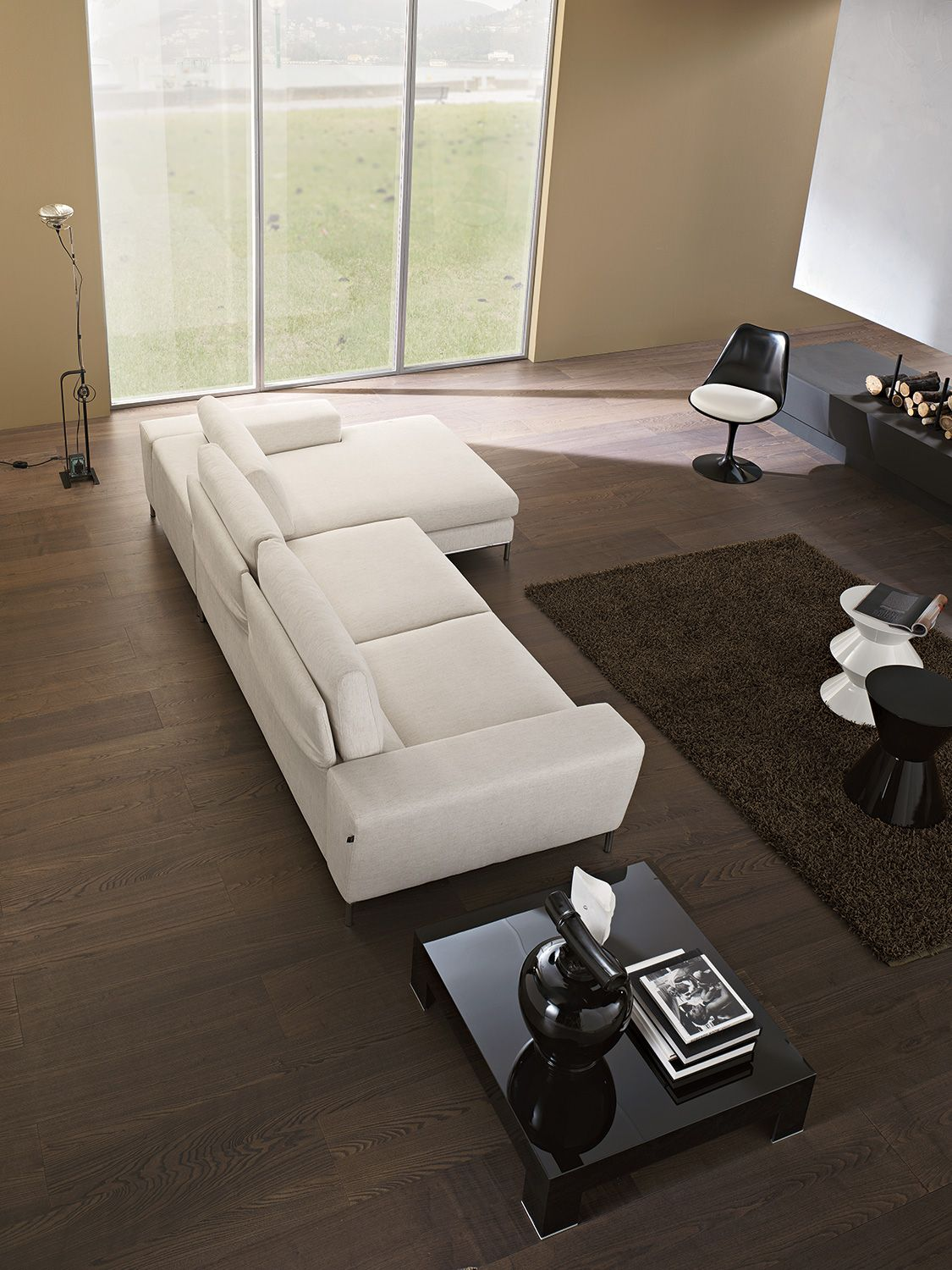 Ariel sectional from polaris modern furniture online affordable furniture contemporary furniture sofas