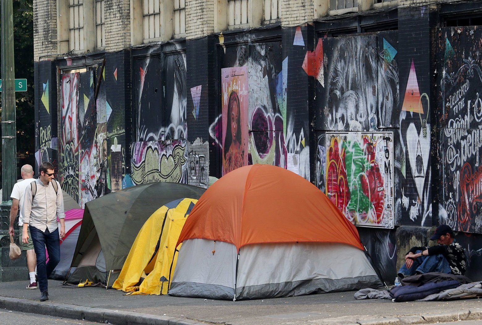 Tents Line South Main Street As Homeless People Camp On A Sidewalk In The Pioneer Square Neighborhood Of Downtown Seattle Downtown Seattle Seattle Seattle News