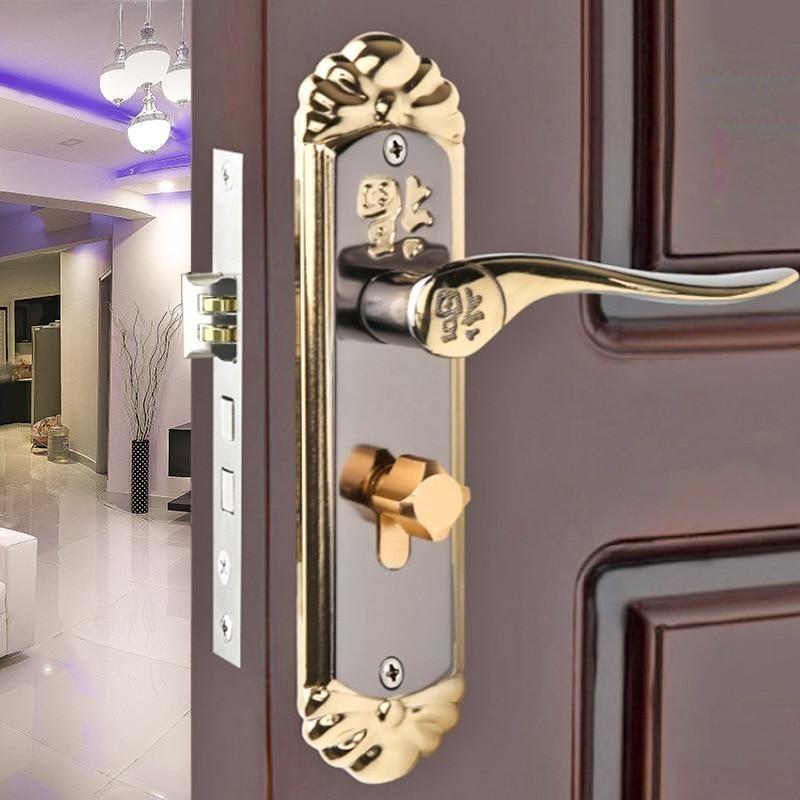 Hardware european simple interior wooden door lock bedroom
