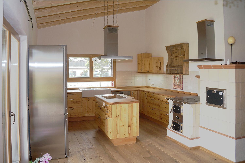Altholzküche in Fichte Altholz Moderne küche, Küchen