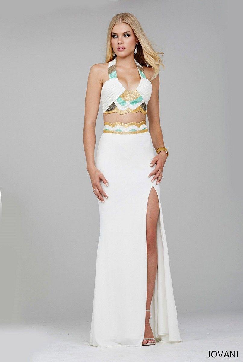 Jovani 33907 Two-Piece Crop Prom Dress. #jovani #promdress #prom Buy ...
