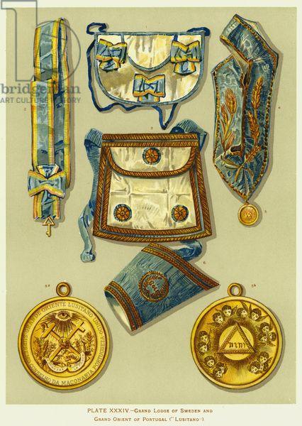 Grand Lodge Of Sweden And Grand Orient Of Portugal Regalia