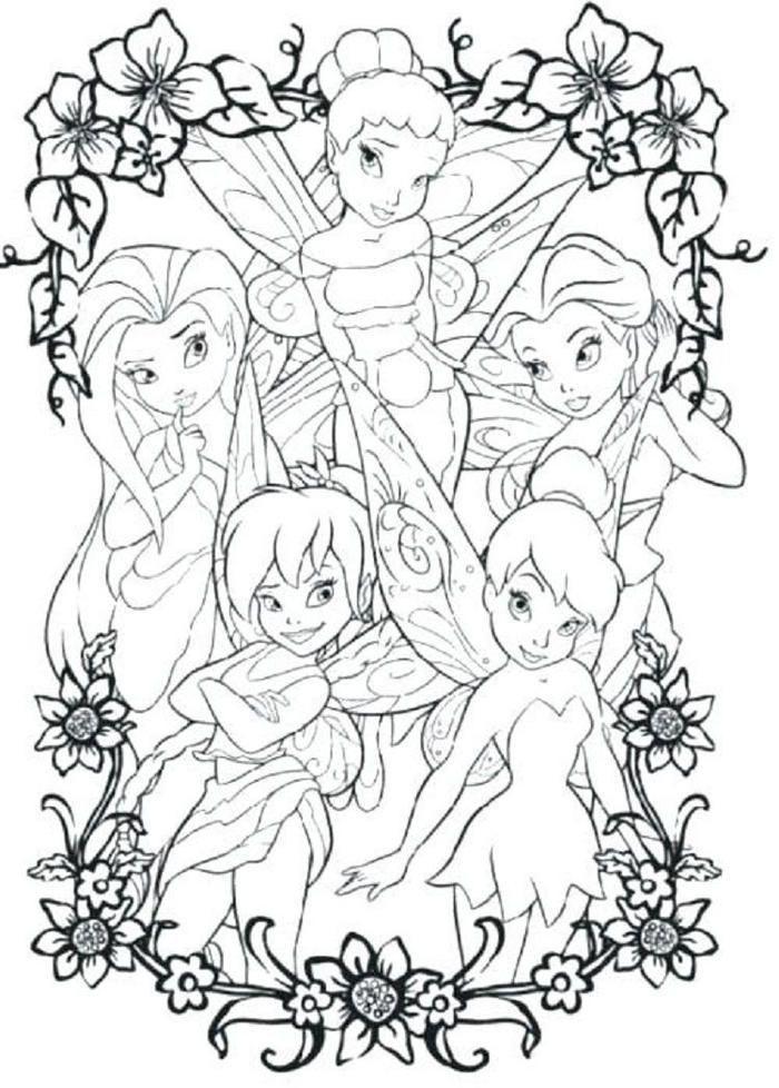 tinkerbell malvorlagen zum ausdrucken  princess coloring