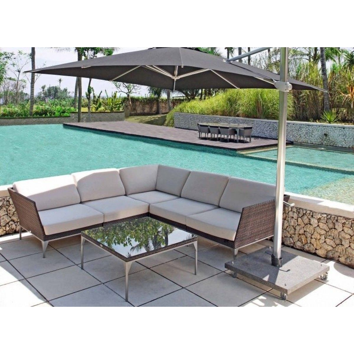 Skyline Brafta Modular Outdoor Lounge Seating Range #uberinteriors