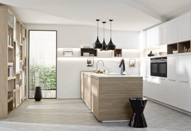 Nowoczesne kuchnie z otwartymi półkami Kuchnia z linii Soft Lack - nolte k chen farben