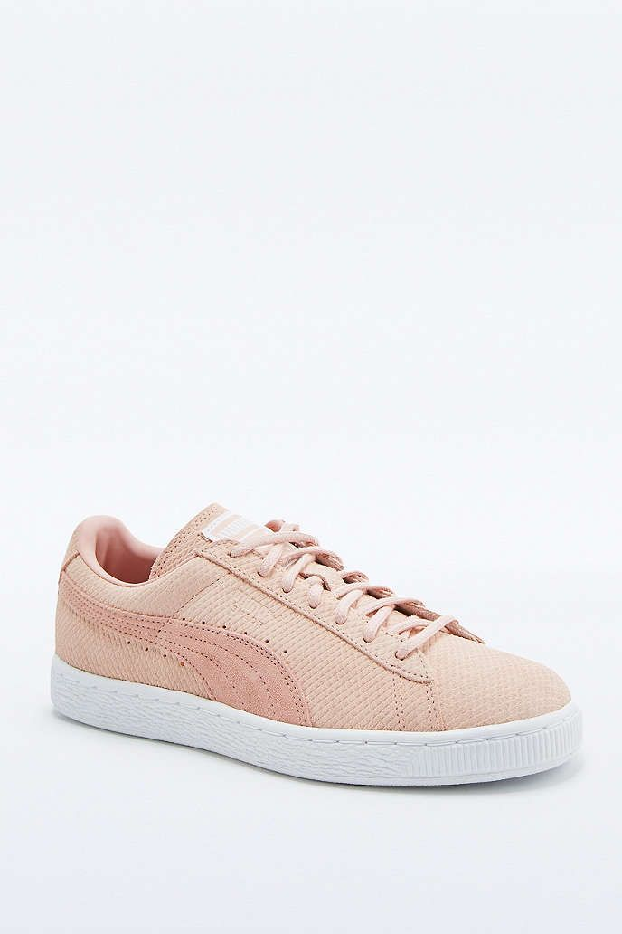 0f71bdb31bc66b Puma Classic+ Pink Suede Trainers - Urban Outfitters