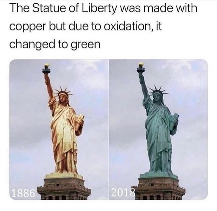 The Statue of Liberty wasn't always green (With images