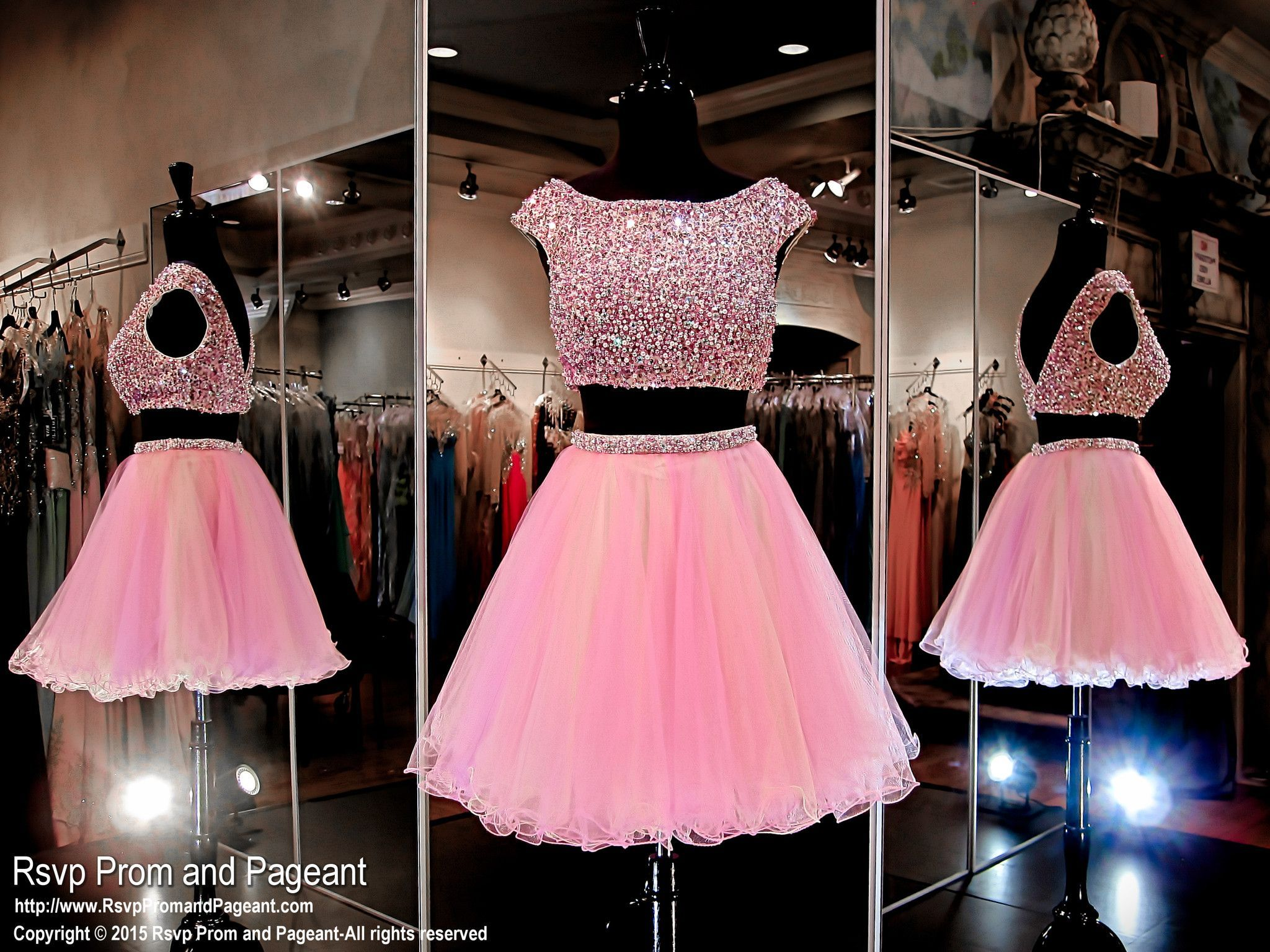 Lilac Two Piece Homecoming Dress-Completely Gold Beaded Crop Top ...