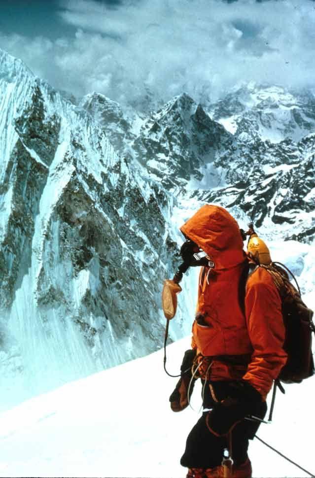 Hornbein on the west ridge of Everest    Photographer: Willi Unsoeld