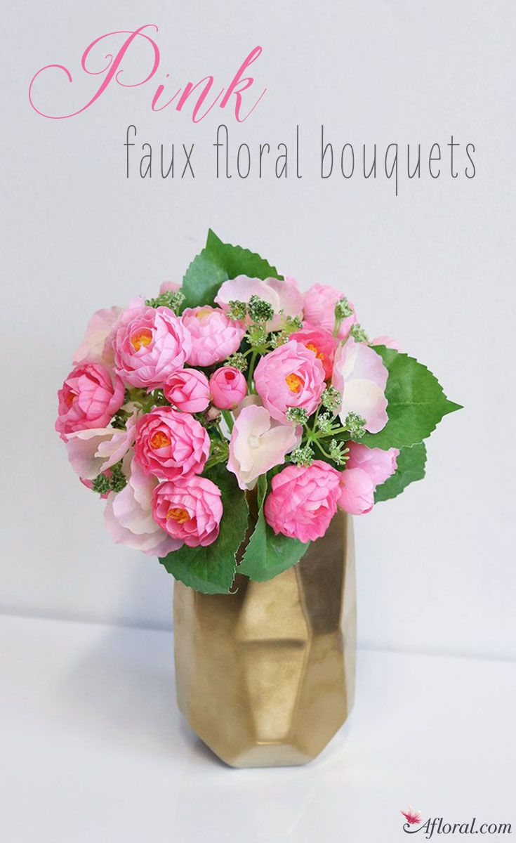 Pink Faux Flower Bouquets at Afloral.com | Pink Wedding Flowers ...