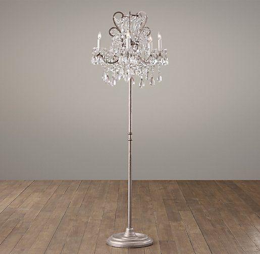 Manor Court Crystal 5 Arm Floor Lamp | Floor | Restoration Hardware Baby U0026  Child