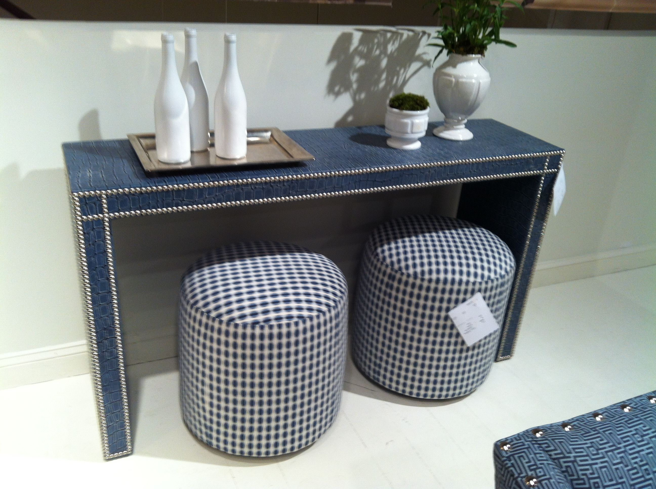 Perfect Speaking Of Upholstered, How Fun Is This Fully Upholstered Console Table?  Description From Lisascheffdesigns