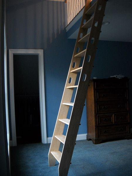 Oak Stringer Ship Ladder Building Pinterest Loft