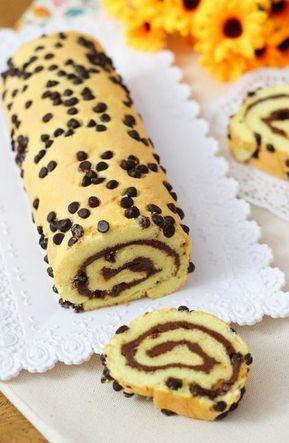 Rotolo soffice alla nutella ricetta facile ricetta nel for Siti ricette dolci