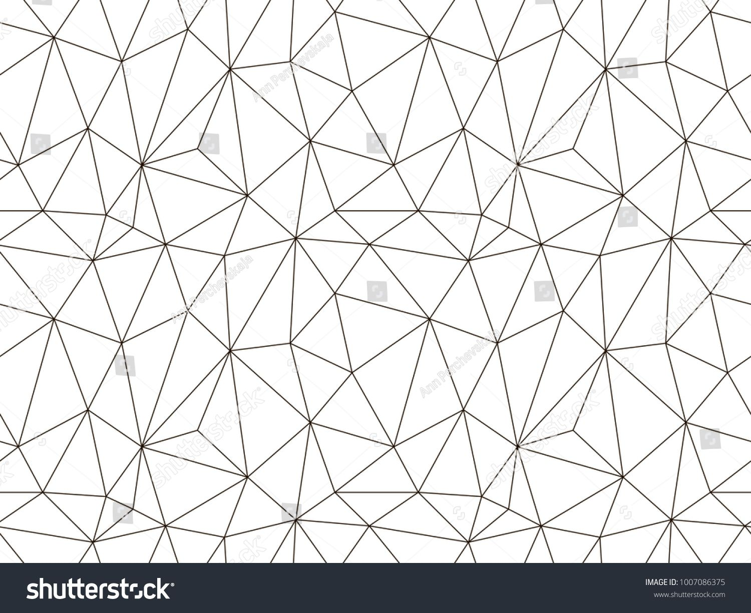 Vector Seamless Pattern Modern Geometric Background Polygonal