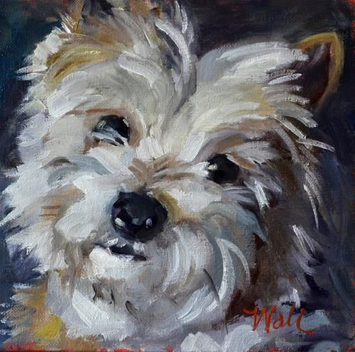 """Carter"" by Pattie Wall. loose brush strokes. I love this kind of painting. Could get similar looking style with palette knife painting"