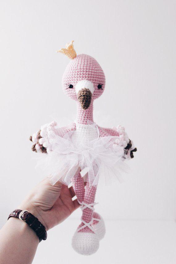 Crochet Flamingo Pattern Amigurumi Flamingo Pdf Crochet Pattern Flo
