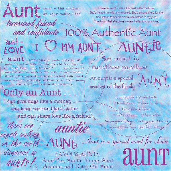 How To Write Aunt Quotes From Niece To Aunt