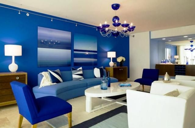 home depot commercial blue paint | Check out this room | Pinterest ...