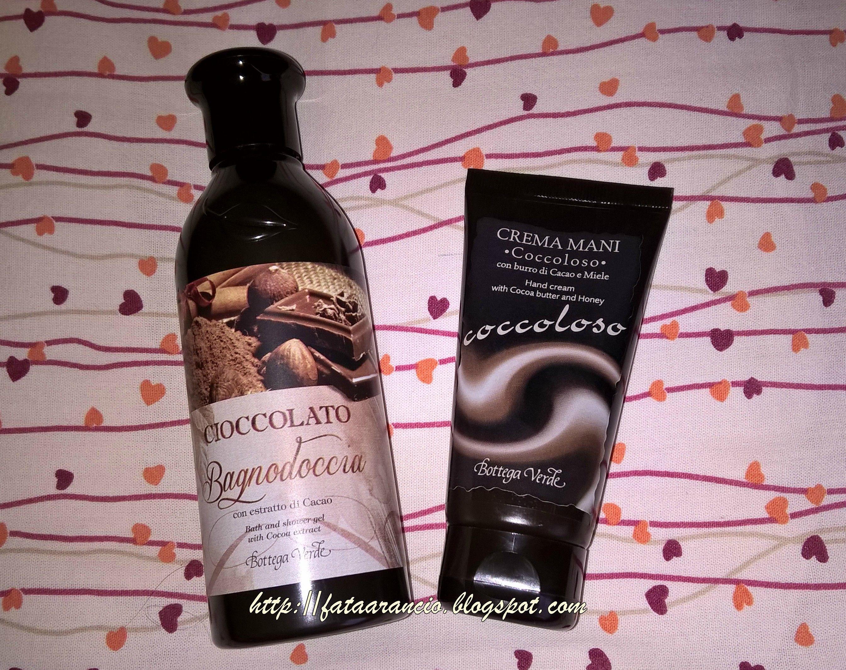 Bagno Doccia Bottega Verde : Bottega verde cioccolato bagnoschiuma e coccoloso crema mani