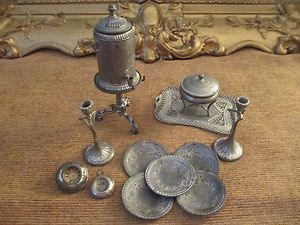 Antique Doll House Miniature Accessories Very Unique RARE Pieces All Metal | eBay