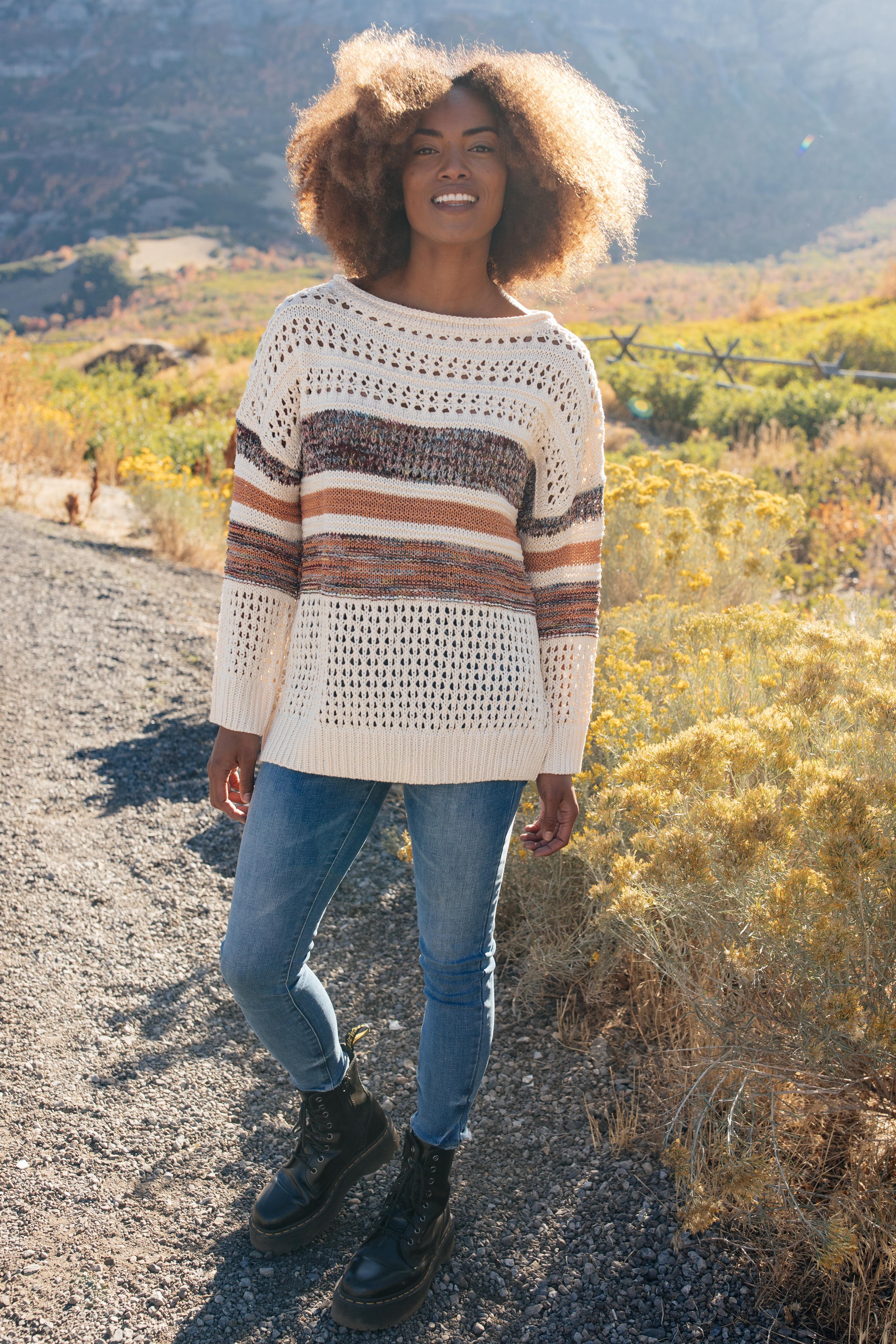 Uniquely Designed Sweater Tunic - 1XL
