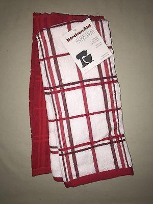 Kitchenaid 2 Pack Cotton Terry Kitchen Towels Red Nwt Kitchen Towels Towel Kitchen