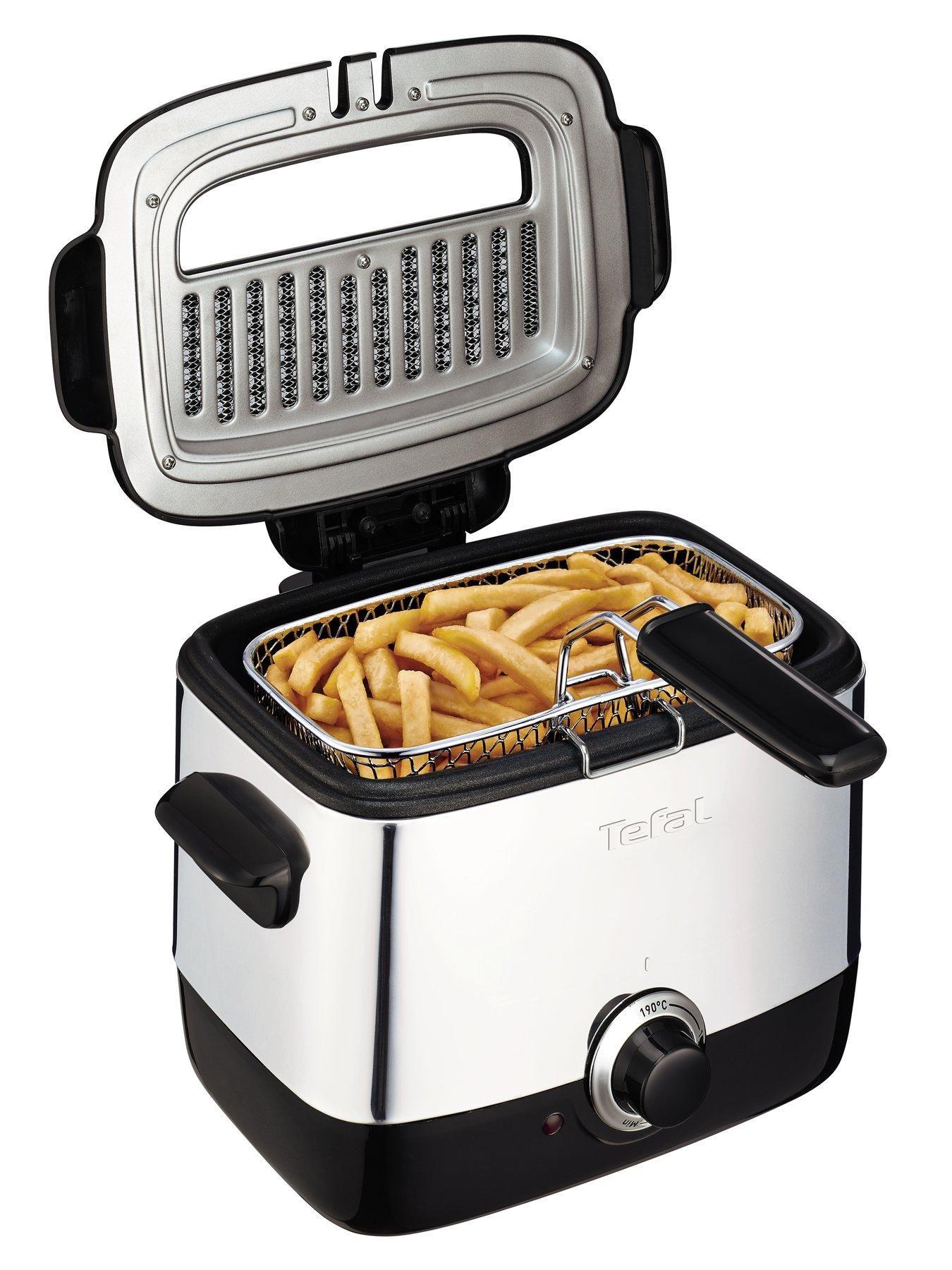 Tefal FF220040 Mini Deep Fryer, 0.6kg Capacity, 1000W