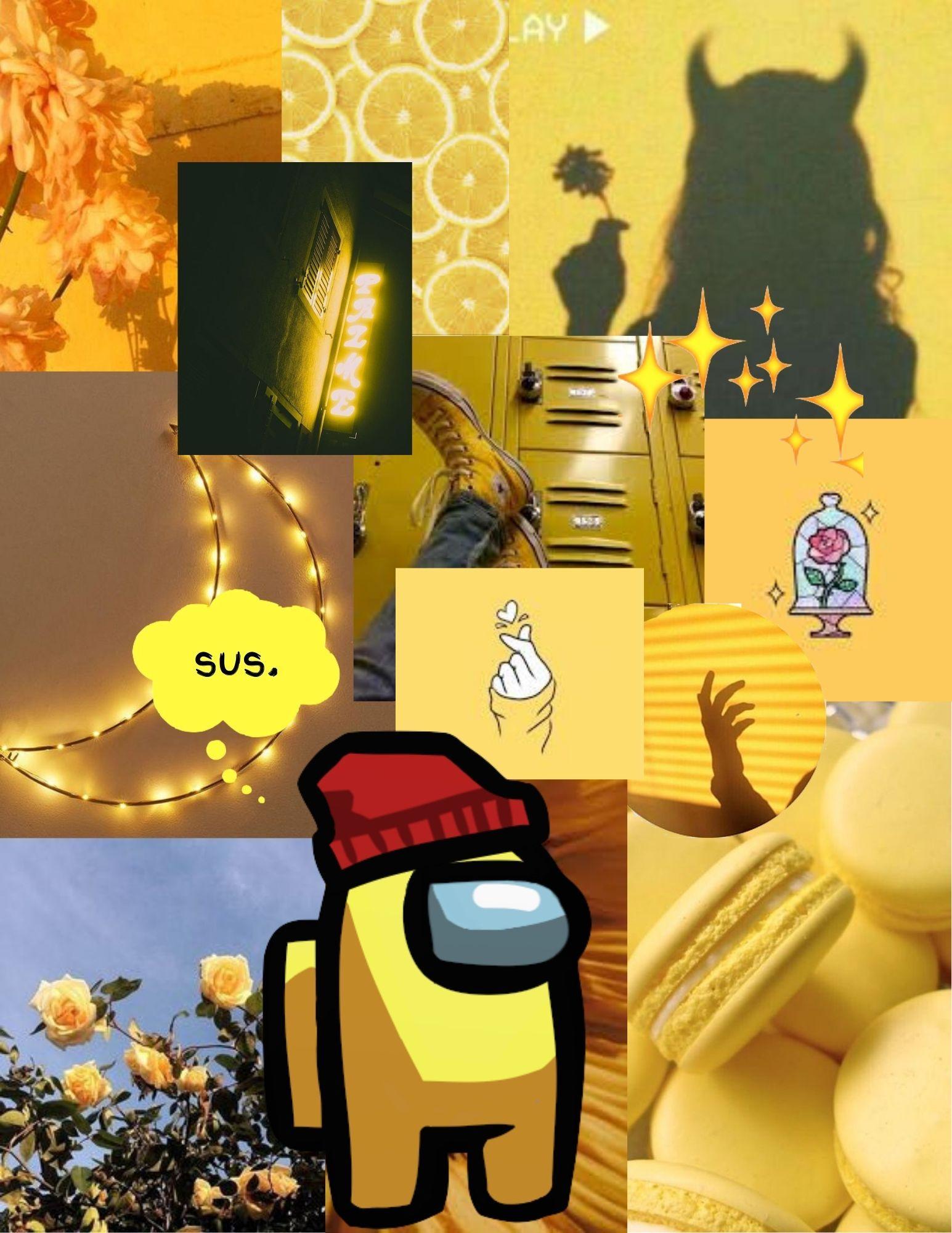 Yellow Among Us Iphone Wallpaper Pattern Aesthetic Iphone Wallpaper Iphone Wallpaper Yellow