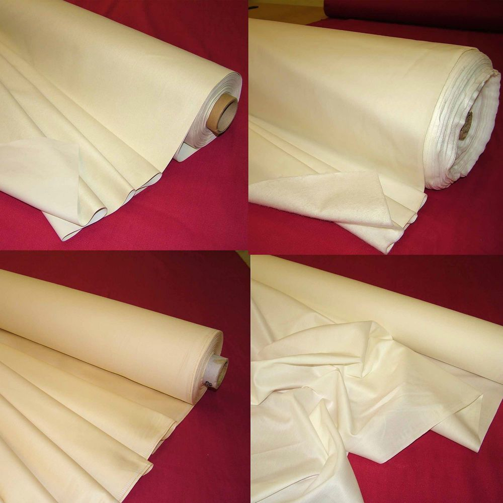 Curtain Lining Twill Thermal Blackout 100 Cotton Sateen Bump