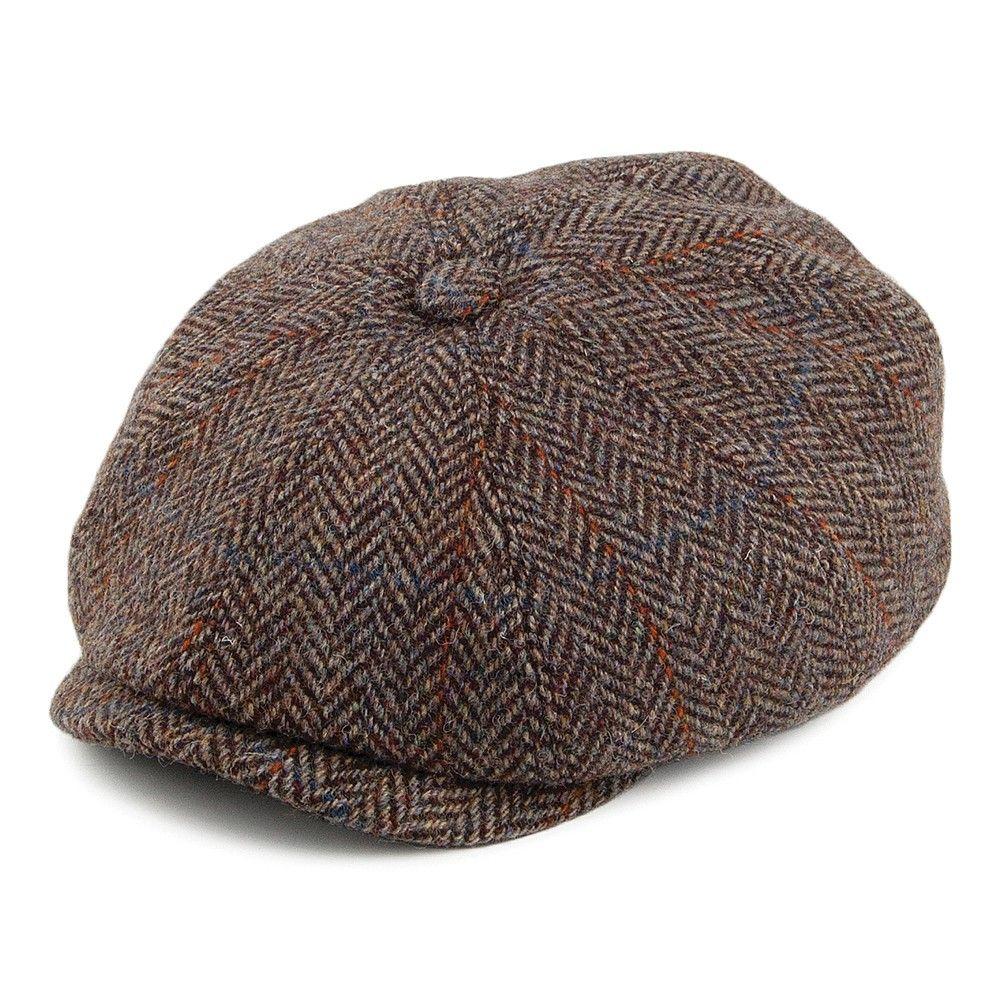 Stetson Herringbone Harris Tweed Hatteras Newsboy Cap   •Lifestyle ... 3f83d9d2a23