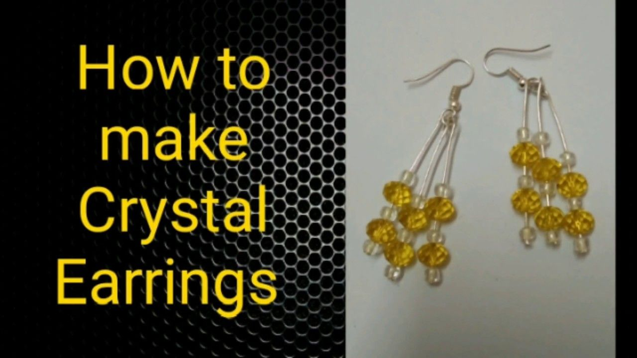 Fast And Easy Beaded Earring Diy How To Make Bead Earrings