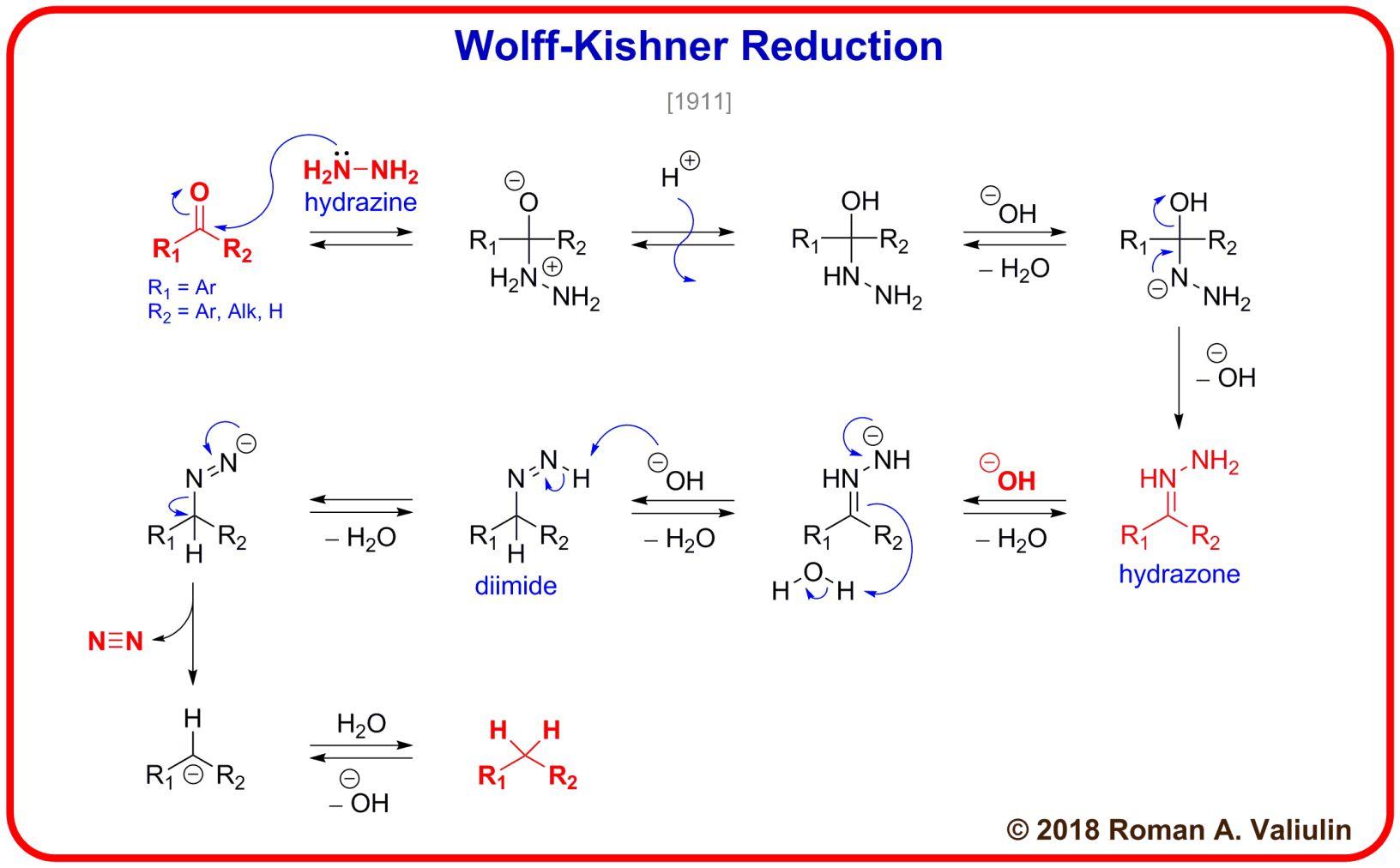 99 Wolff Kishner Reduction 1911 Organic Chemistry Teaching Chemistry Chemistry Education What is addition elimination reactions