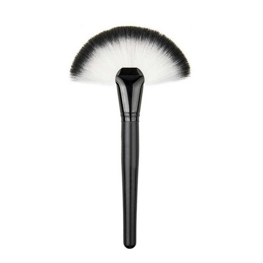 Keyzone Fan Shape Makeup Large Fan Blush Face Powder Foundation Brush For Lady Soft Feel And Very Helpful Ultra Soft And Fan Brushes Face Brushes Fan Brush Makeup Highlighter Brush Fan