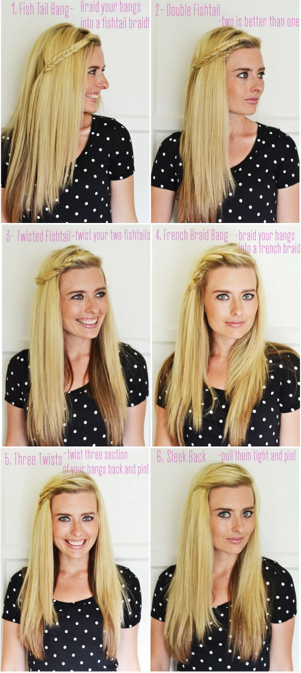 6 Ways To Pull Back Your Bangs Beauty Pinterest Hair Hair