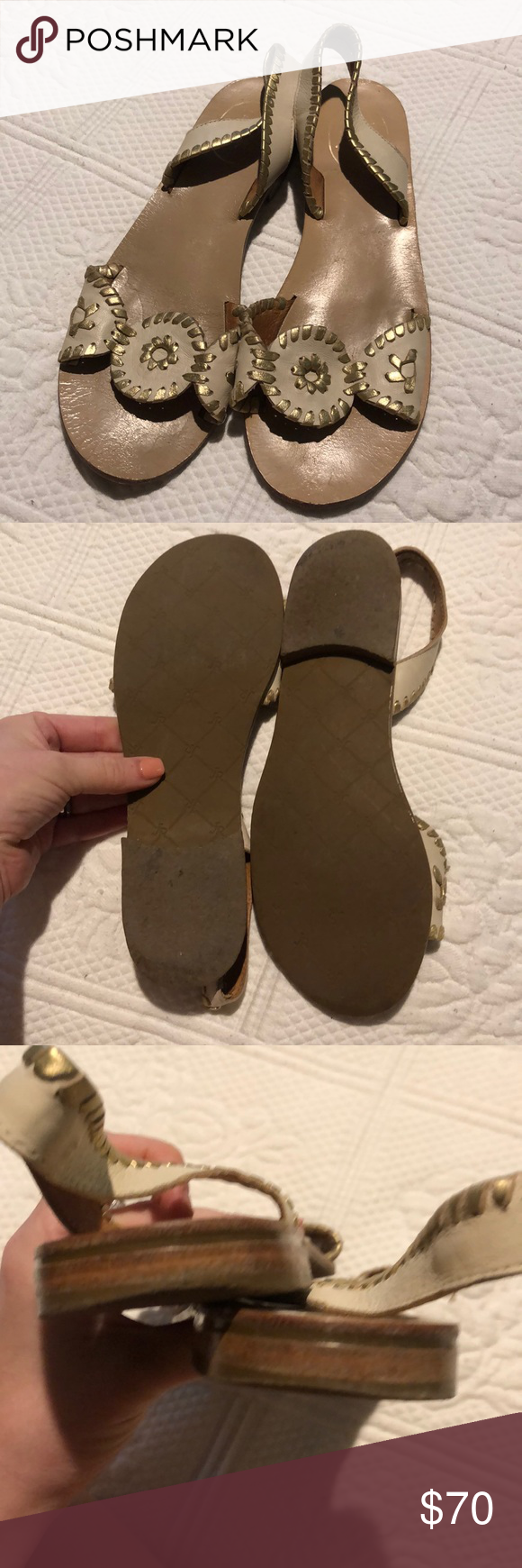 Jack Rogers Liliana Slingback Sandals Gently used, fits
