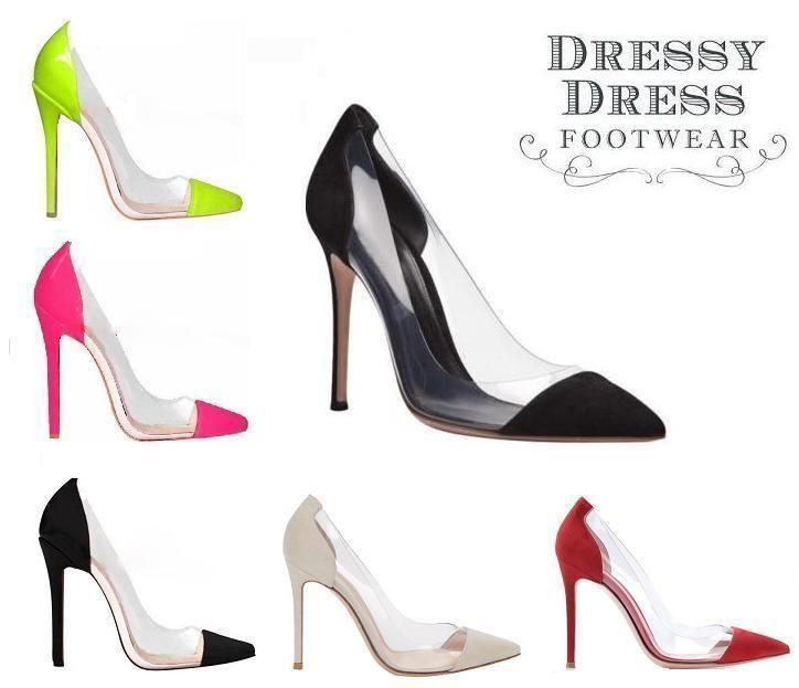 new product a1cbf 79278 Transparent PVC High Heels Blogger Pumps Stiletto Gr. 35 36 ...