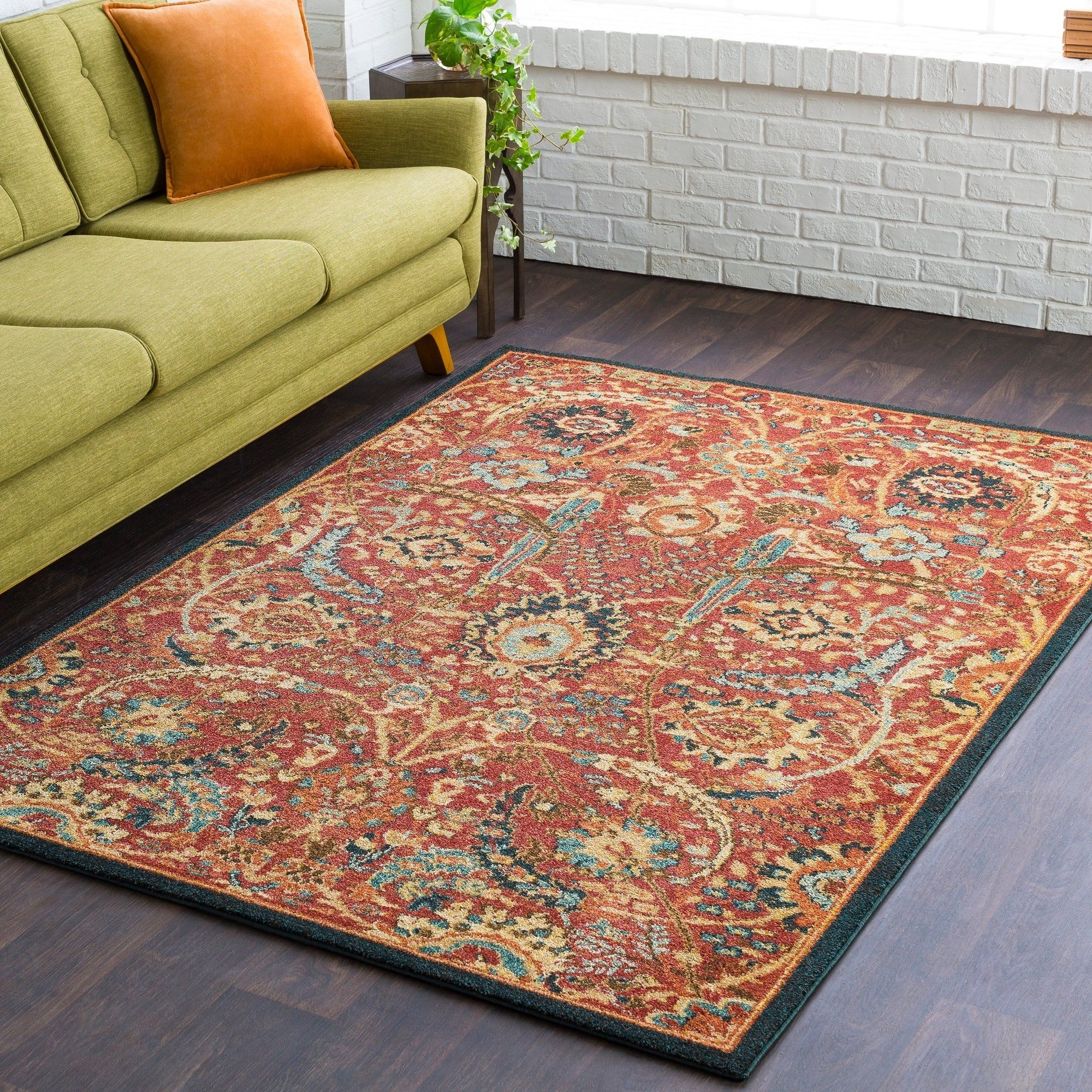 Jamie Traditional Floral Burnt Orange Runner 2 7 X 7 3 Runner