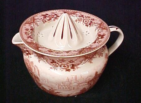 Red Castle Willow Transferware Juicer Reamer Deco 2 PC | eBay
