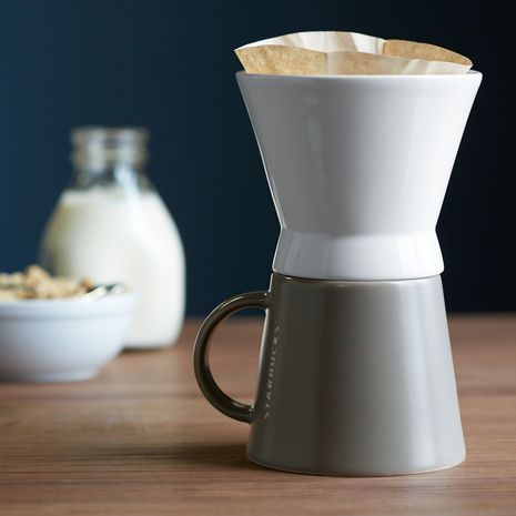 One Cup Starbucks Coffee Maker : Starbucks Classic Pour-Over Brewer and Mug Set. Picked this up last week at Starbucks. Been ...