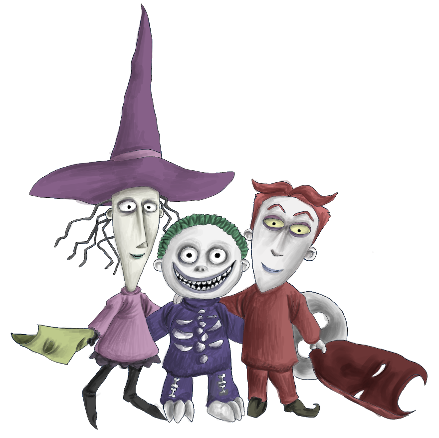 Nightmare Before Christmas Trick Or Treaters – Platinum ... |Nightmare Before Christmas Characters Barrel