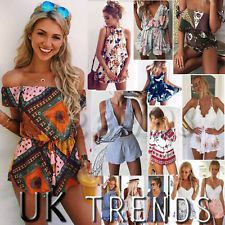 5c27a328ebd1 UK Womens Holiday Mini Playsuits Ladies Jumpsuits Beach Summer Dress Size 6  - 14 UK Womens Holiday Mini Playsuits Ladies Jumpsuits Beach Summer Dress  Size 6 ...