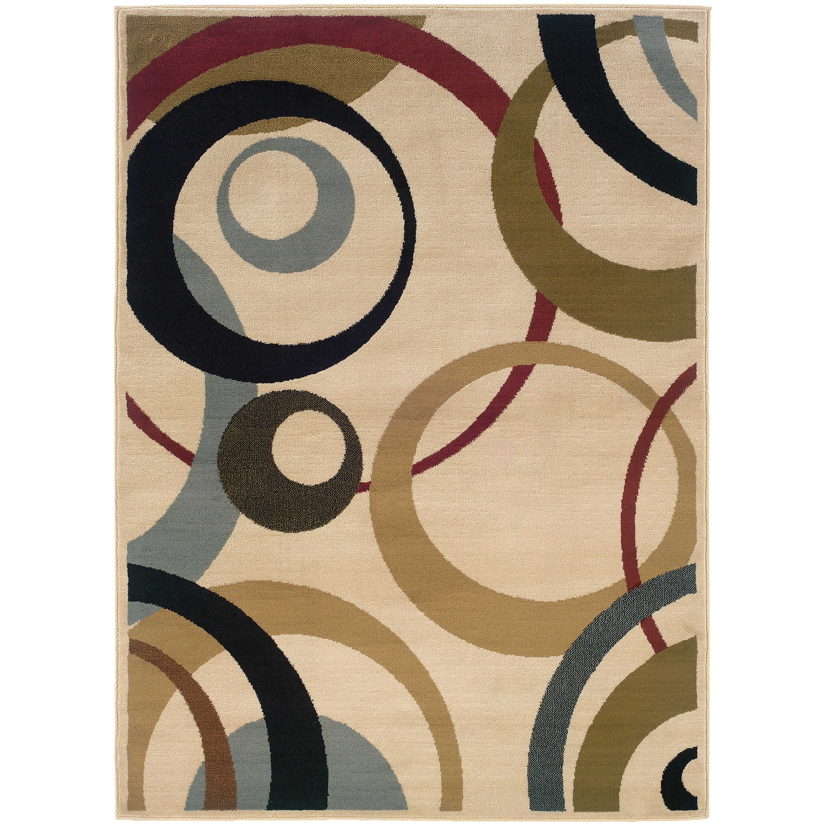 7 Amazing Colours For A Statement Wall With Wow: Oriental Weavers Camden 1251E Ivory/Beige Geometric Area